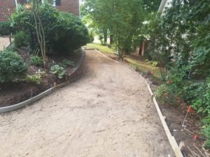 Graded Area for Driveway placement