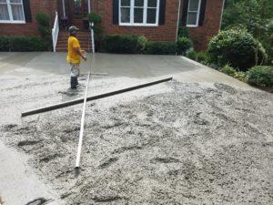 Concrete pour in progress