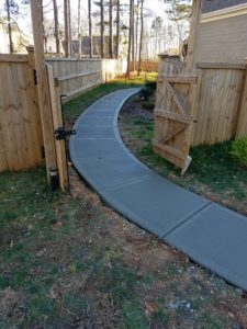 New concrete sidewalk project - Call to Get a quote