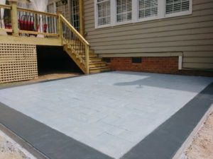 Gallery Stamped Patio concrete construction job