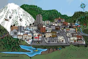 Ashland Artistic Map by Cammy Davis