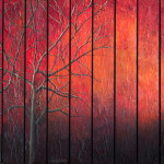 This painting depicts the warmth and emptiness of fall.