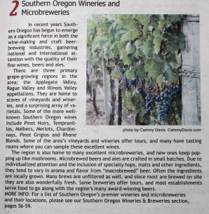 101 Things To Do in Southern Oregon, Image by Cammy Davis, Wine Grapes at Caprice Vineyards