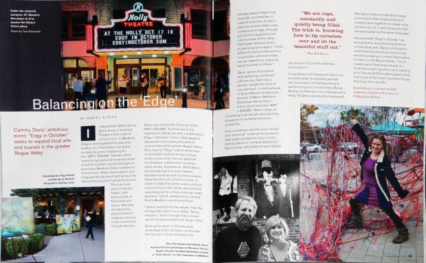 Ashland Gallery Guide, Edgy in October, Cammy Davis, Art Events, Ashland, Oregon