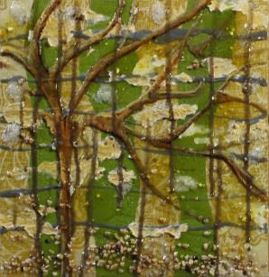 Wavy Sky, Tree, Texture, Green, Gold