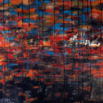 Sunset Abstract Painting by Oregon Artist