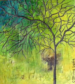 Loose Brushstrokes, Trees, Green, Yellow