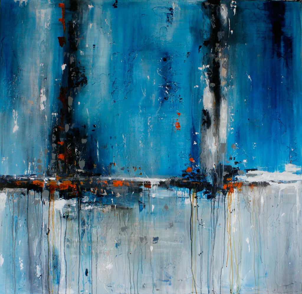 Painting about Longing, the Ocean, Lost Love, Abstract, Contemporary