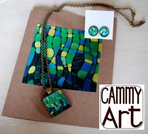 Glass Pendant Art Jewelry by Cammy Davis
