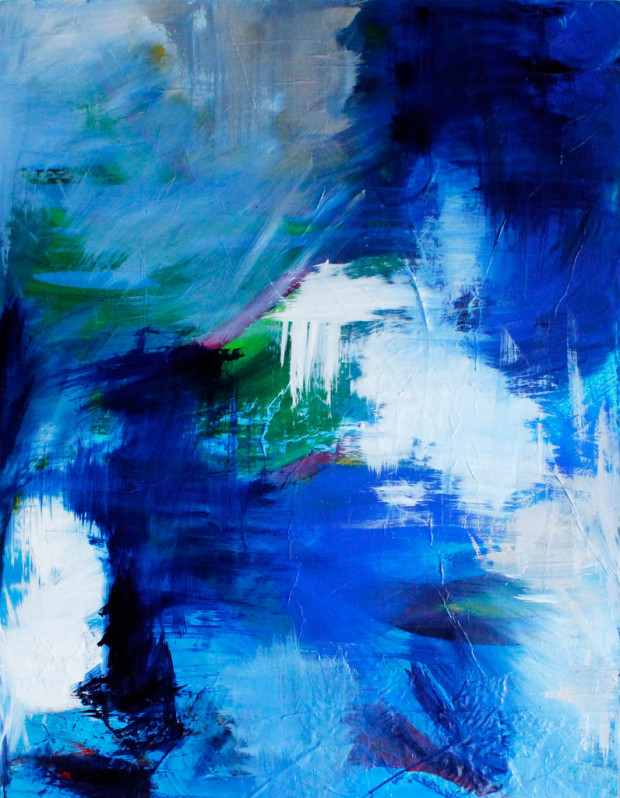 Contemporary Art, Abstract Expressionism, Blue, Mood, Emotion, Large Brushstrokes, Loose