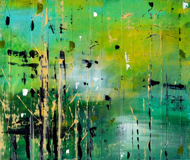 Abstract, Art, Painting, Contemporary Art, Trees, Landscape, Tree