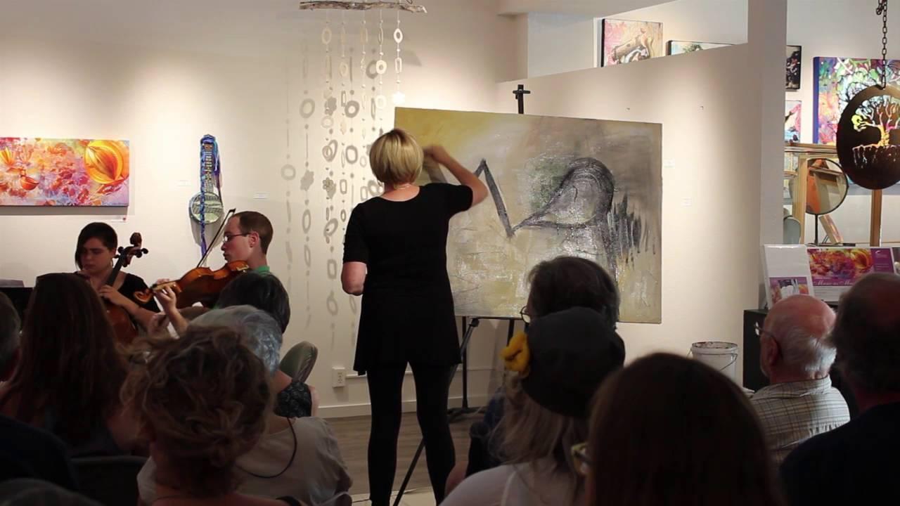 Oregon Artist Cammy Davis, Live Painting, Painting to Music, Art Exhibit