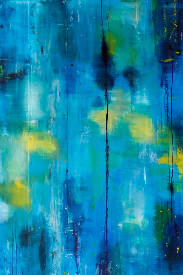 Sky, Blue, Brushstrokes, Loose Brushstrokes, Abstract Expressionism, Abstract, Dripping Paint