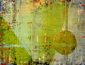 Green Yellow, Ochre, Abstract Painting