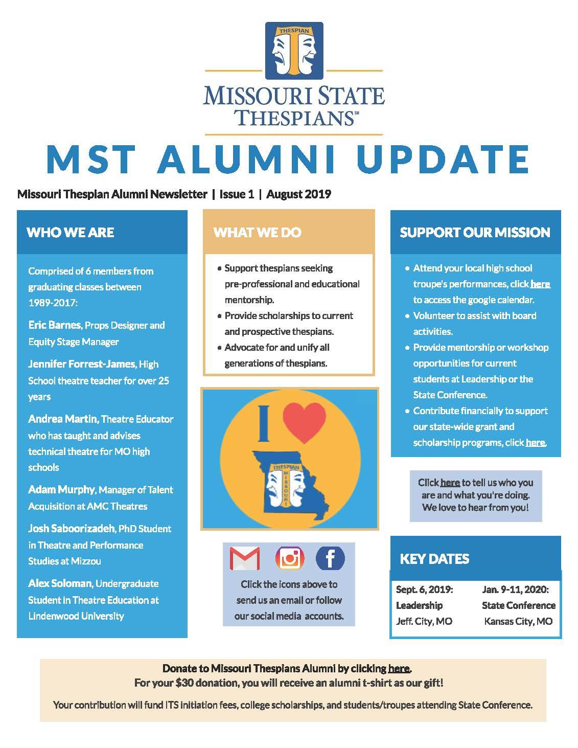 MST Alumni August Newsletter