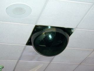 It is just one of the ceiling's testicles... that watches you.