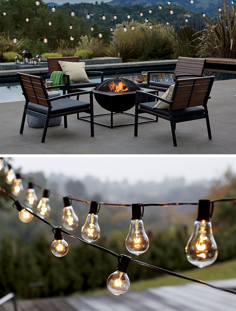 String lights are an easy and fairly low budget way to add light to your backyard or garden. Simply string them up, plug them in, and you're ready for a cozy night outside, it is inexpensive and beautiful idea to light up your propriety