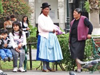 Gossiping women, Plaza de Armas, Arequipa, Peru photo