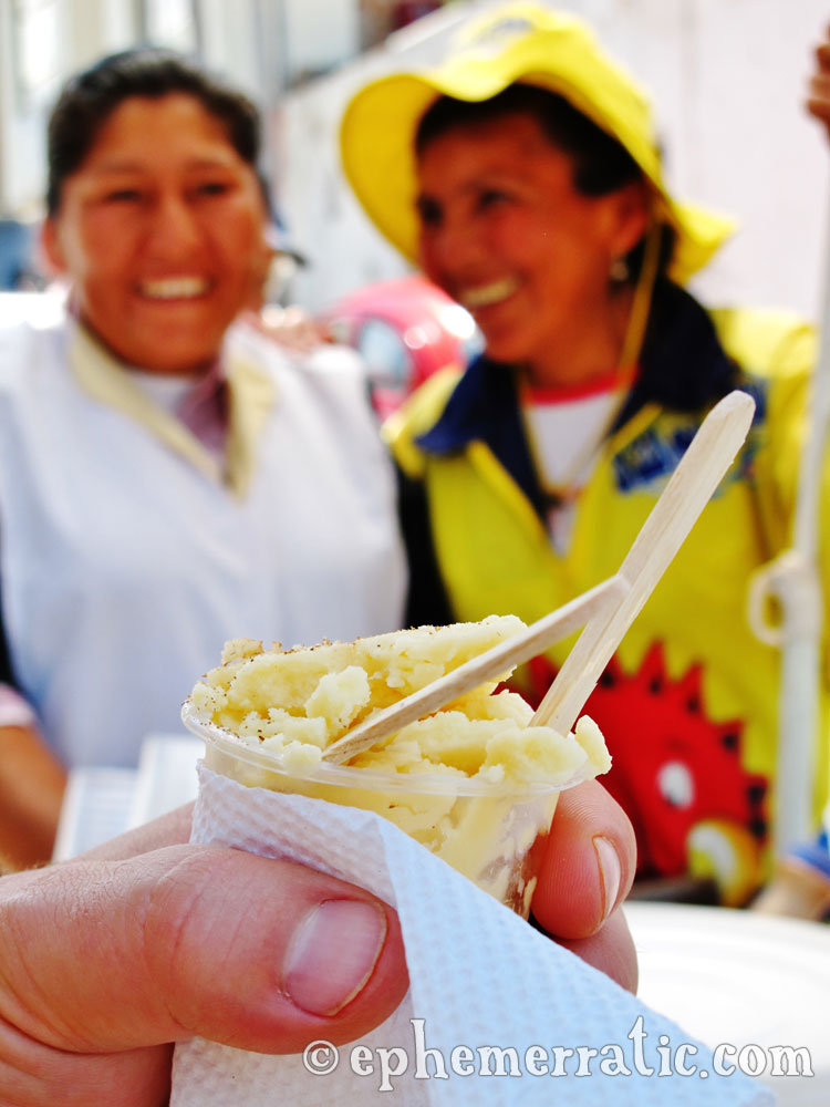 Queso helado cheese ice cream, Arequipa, Peru photo