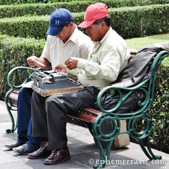 Letter typing vendor, Arequipa, Peru photo
