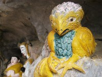 Freaky bird with a frog in its talons at Elephant Cave, Vang Vieng, Laos
