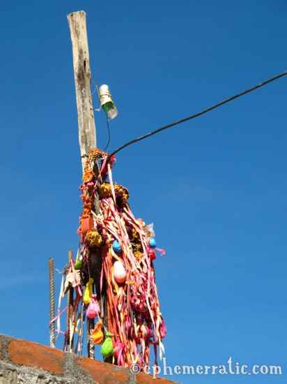 Deflated party balloons, Cabanaconde, Colca Canyon, Peru photo