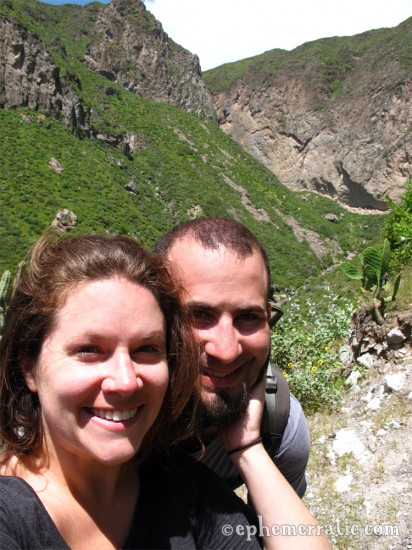 Lauren and Todd, Colca Canyon, Peru photo