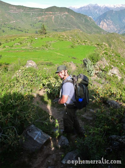 Todd starting the hike to Llahuar, Colca Canyon, Peru photo