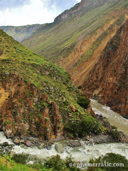 The river bend at Llahuar, Colca Canyon, Peru photo