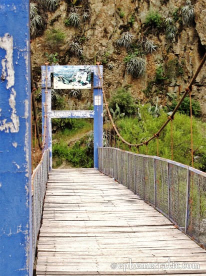 Bridge across the Rio Colca, Colca Canyon, Peru photo