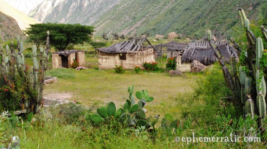 Remote, small village near Llahuar, Colca Canyon, Peru photo