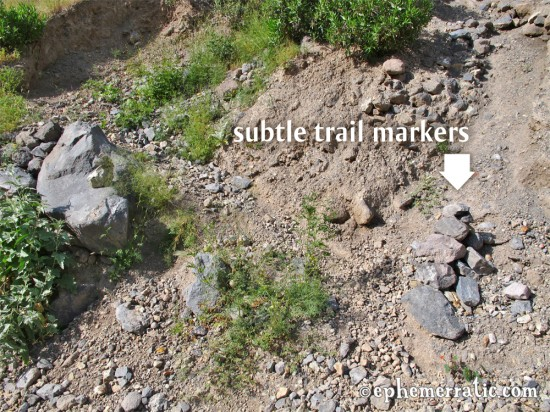 Very subtle trail markers, Colca Canyon, Peru photo