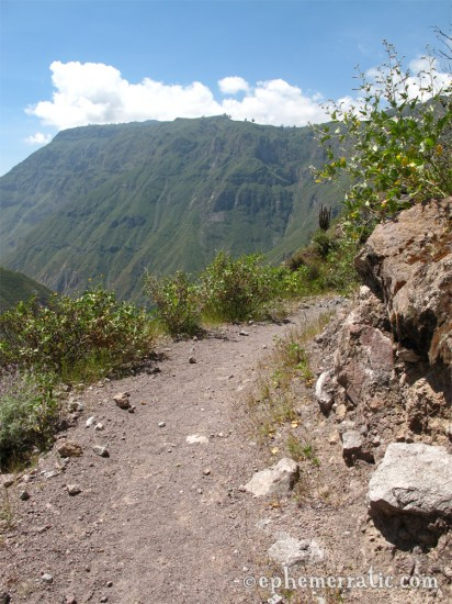 Hiking up from Llahuar, Colca Canyon, Peru