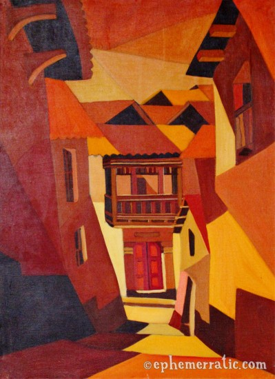 """Calle Cusqueña"" by Cruz, Museo de Arte Contemporáneo, Cusco, Peru painting"