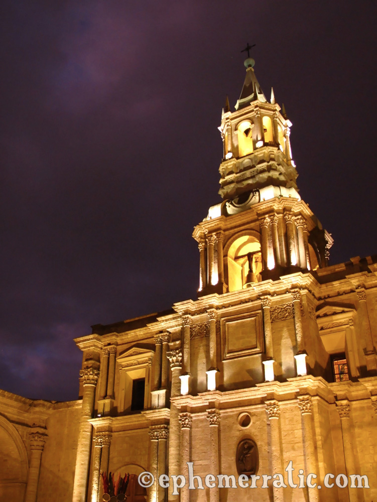 Basílica Catedral, Plaza de Armas, Arequipa, Peru photo