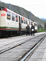 Inca Rail train ready to leave for Machu Picchu photo