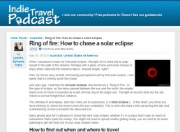 Indie Travel Podcast guest blog screenshot