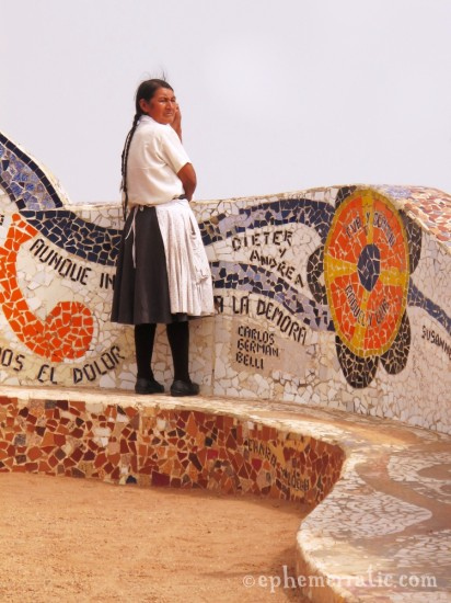 On the lookout at Parque del Amor, Lima, Peru