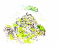 Sketch at Machu Picchu