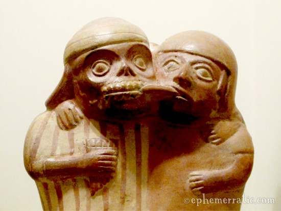 Making out with a dead guy, Museo Larco, Lima, Peru
