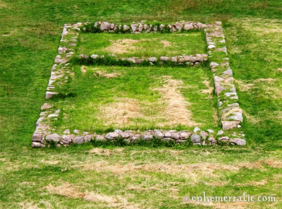 All that remains of an Incan building, Moray, Peru photo