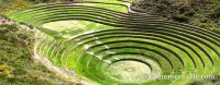 Terraced Incan ruins, Moray, Peru photo