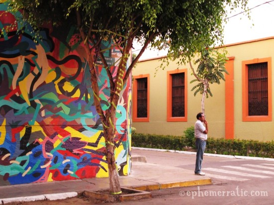 Painted Barranco intersection, Lima, Peru by Lauren Girardin