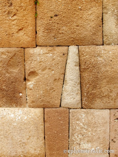 One Incan brick is not like the other, Pisac ruins, Peru photo
