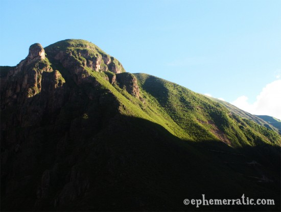 Mountainous landscape in the Sacred Valley, Peru photo