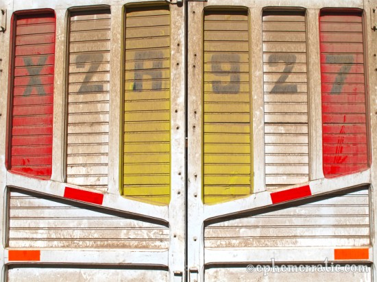 Colorful truck doors, Sacred Valley, Peru photo