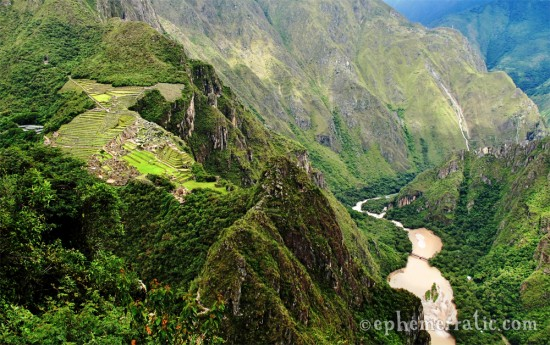 View from Huayna Picchu photo