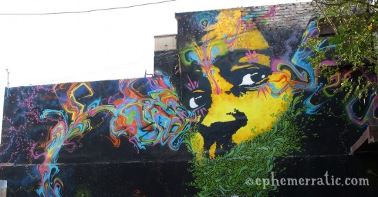 Yellow boy mural, Barranco, Lima, Peru by Lauren Girardin