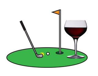 Rivers Edge One Handed Wine Putting Contest