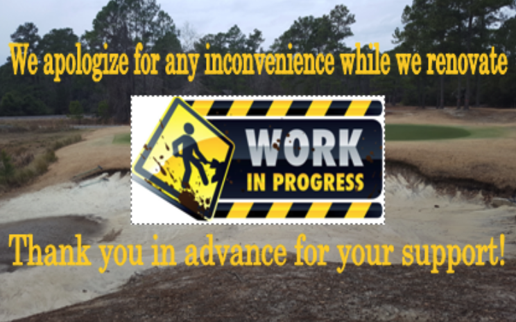 Renovation Projects In Process – Clubhouse Sign